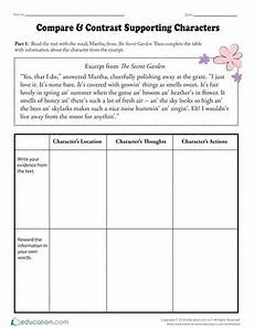 compare the tales worksheet education com