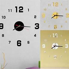 Wall Clock Acrylic Mirror Sticker Self by New Wall Clock 3d Acrylic Mirror Stickers Diy Self