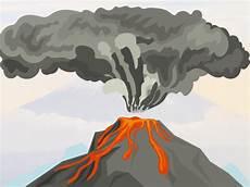 Gambar Ilustrasi Gunung Meletus Iluszi