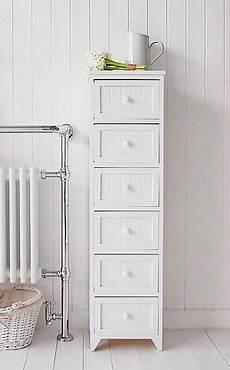Free Standing Bathroom Storage Ideas Slim Bathroom Storage Furniture With 6 Drawers For