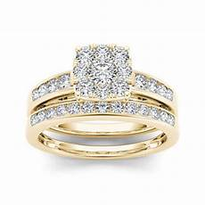 1 ct t w diamond 10k yellow gold bridal ring jcpenney