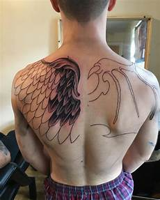 21 angel wing tattoo designs ideas design trends