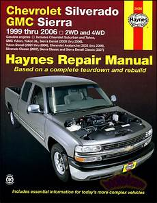 car repair manuals online pdf 2006 chevrolet suburban 2500 lane departure warning chevrolet silverado gmc sierra shop service repair manual haynes truck chilton ebay