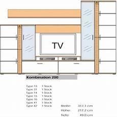 ideal m 246 bel wohnwand teno kombination in verschiedenen