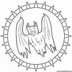 Fledermaus Ausmalbild Pdf Fledermaus Oder Vir Als Mandala Ausmalbild Zum Ausdrucken