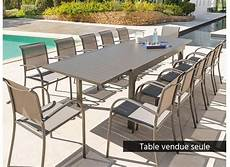 table jardin extensible alu table extensible aluminium hesperide piazza 10 112 places