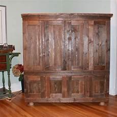 Custom Rustic Reclaimed Pine Tv Cabinet By Nicoll