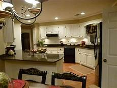 remodel complete tropic brown granite dover white cabinet paint basket beige wall color