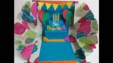 Pop Up Karte Basteln - and craft explosion pop up birthday card