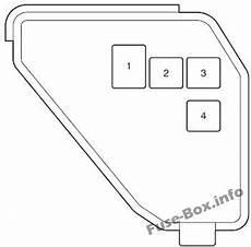 Fuse Box Diagram Toyota Prius C 2012 2017