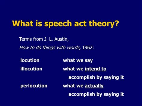 Jl Austin How To Do Things With Words