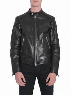 lyst tom ford leather biker jacket in black for