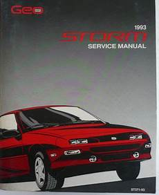 auto repair manual free download 1992 geo storm security system find monster 1993 geo storm factory oem service manual st371 93 rare motorcycle in east china