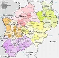 Liste Der Kreise Und Kreisfreien St 228 Dte In Nordrhein