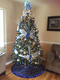 Silver And Blue Decorations by Royal Blue White And Silver Tree The