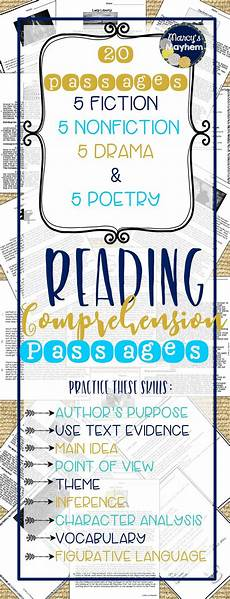 4th grade poetry reading comprehension worksheets 25454 17 best images about classroom ideas on student anchor charts and 4th grade classroom