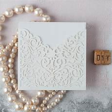 lucy wedding invitation white laser cut invitation