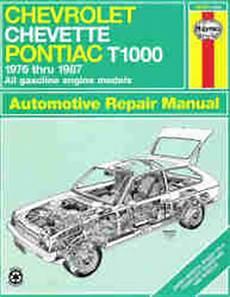 motor repair manual 1987 pontiac gemini instrument cluster 1976 1987 chevrolet chevette and pontiac t1000 haynes repair manual