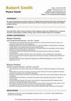 resume for physics teachers physics teacher resume sles qwikresume