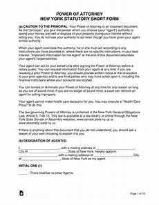 free new york power of attorney forms pdf word eforms free fillable forms