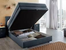 boxspringbett amalina 140x200 blau nachttisch mit