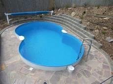 Pool In Erde Einbauen - welche stahlwandpool arten formen gibt es pools im