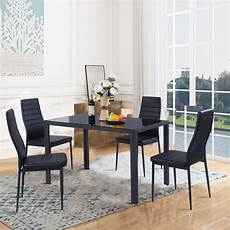 Walmart Kitchen Furniture Gymax 5 Table Chair Kitchen Dining Set Furniture