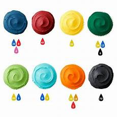 Bore Gel Mixing Chart Icing Color Guide Food Coloring Mixing Chart Icing