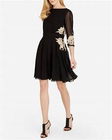 ted baker embroidered dress in black lyst