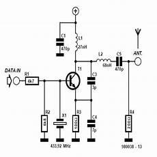 rf module 433mhz circuit diagram electronics circuit