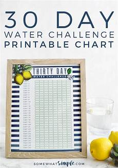 30 Day Water Challenge Printable Somewhatsimple