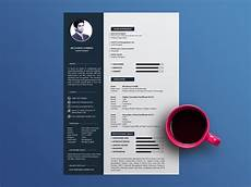free cool resume template with clean and elegant design