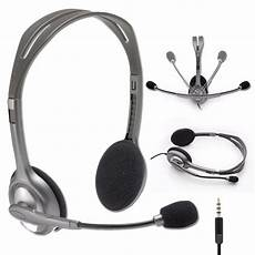 Logitech Headset H 111 Stereo logitech stereo headset h111 headphones w boom microphone