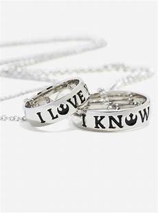 new i love you i know ring necklace the kessel