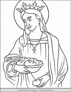 Malvorlagen Elizabeth Elizabeth Of Hungary Coloring Page Elizabeth