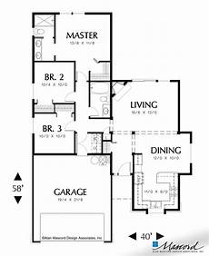 mascord house plans main floor plan of mascord plan 1110 the parker