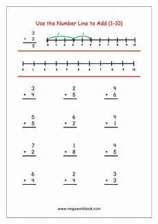 algebra number line worksheets 8491 free printable number addition worksheets 1 10 for kindergarten and grade 1 addition on
