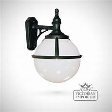 buy globe wall lantern outdoor wall lights spherical black wall light with opaque shade