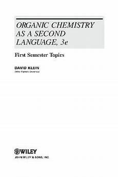 pdf organic chemistry as a second language 5th edition