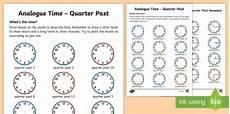 time worksheets ks1 quarter past 3066 analogue time quarter past worksheet worksheet
