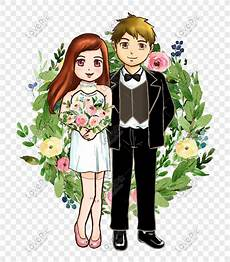 Ilustrasi Kartun Pernikahan Kartun Romantis Gambar Unduh