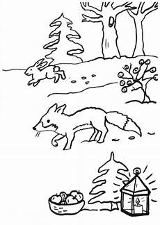 Ausmalbild Hase Und Fuchs Kostenlose Malvorlage F 252 Chse Fuchs Im Schnee Zum Ausmalen