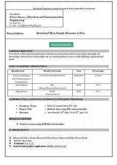 resume format for freshers in ms word free download best latest resume format for freshers