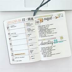 wochenplan ideen kalender gestalten bullet journal
