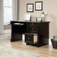 home office furniture computer desk 53 quot traditional two drawer computer desk in wind oak