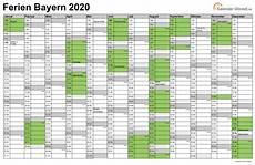Ferien Bayern 2020 Ferienkalender Zum Ausdrucken