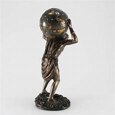 deko skulptur atlas bronziert masterpiece collection