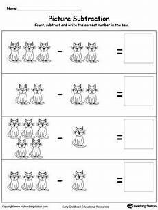 subtraction worksheet for kindergarten printable 10491 beginning subtraction using pictures 1 to 5 subtraction worksheets kindergarten math