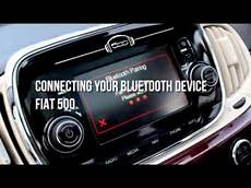 connecter bluetooth fiat 500 fiat 500 connecting a bluetooth device