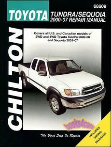 free online auto service manuals 2004 toyota sequoia engine control toyota tundra sequoia shop manual service repair book chilton haynes 2000 2007 ebay